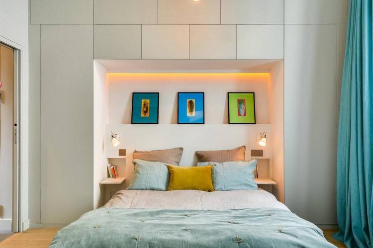 Использование встроенных систем - Дизайн спальни 10 кв.м.