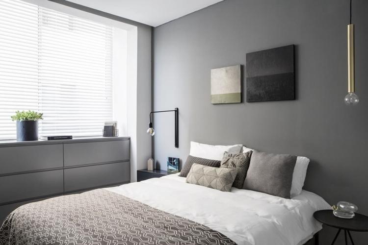 Спальня 12 кв.м. в стиле минимализм - Дизайн интерьера