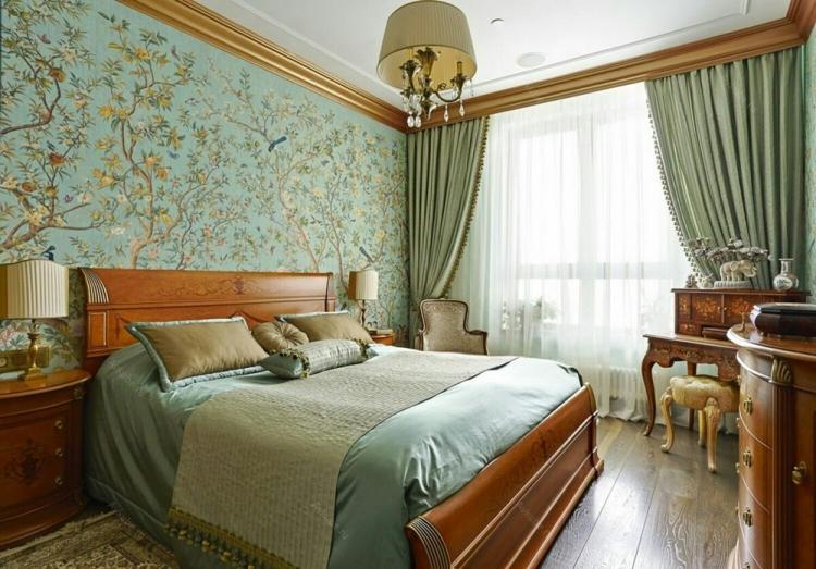 Спальня 12 кв.м. в классическом стиле - Дизайн интерьера