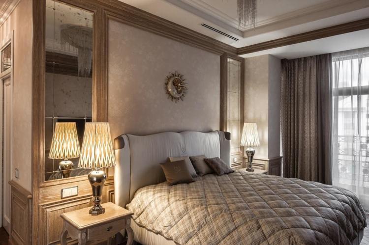 Спальня 12 кв.м. в стиле неоклассика - Дизайн интерьера