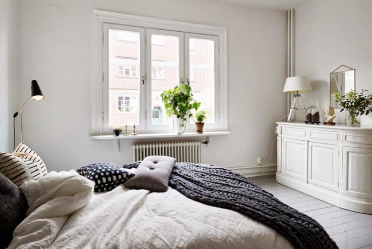 Спальня 12 кв.м. в скандинавском стиле - Дизайн интерьера