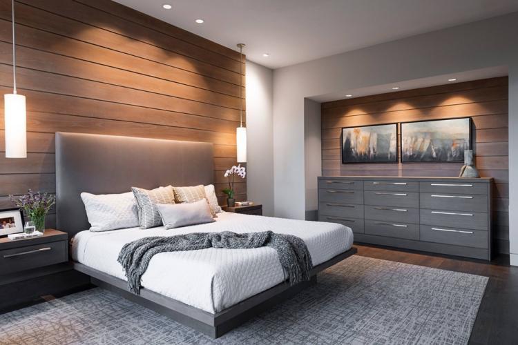 Спальня 12 кв.м. в современном стиле - Дизайн интерьера