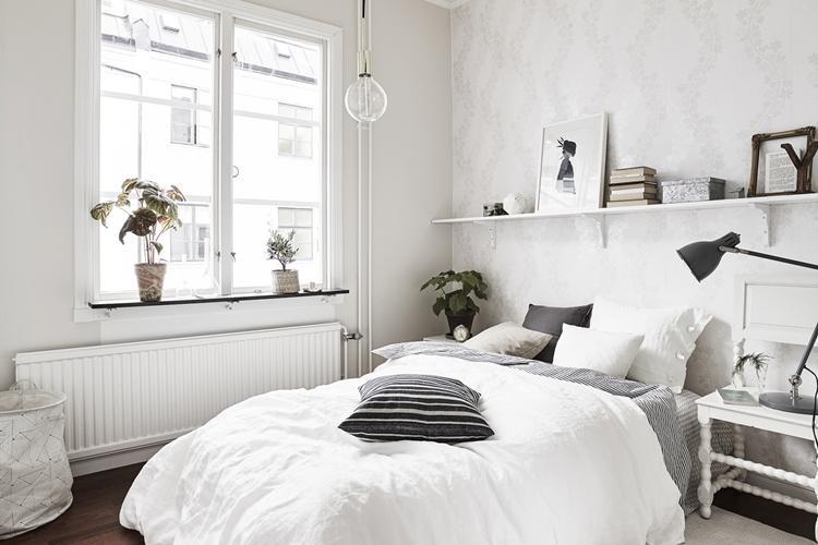 Белая спальня 12 кв.м. - Дизайн интерьера