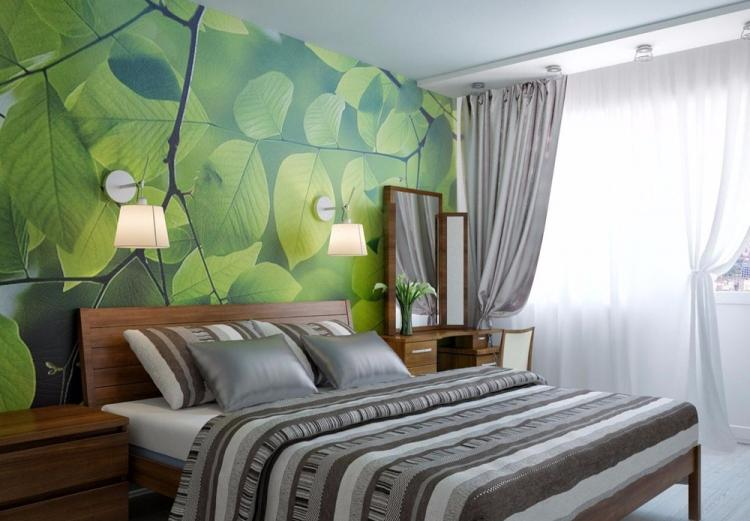 Зеленая спальня 12 кв.м. - Дизайн интерьера