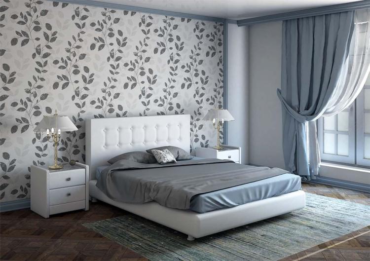 Отделка стен - Дизайн спальни 12 кв.м.
