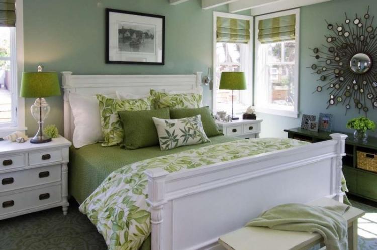 Зеленая спальня - Дизайн спальни 2019
