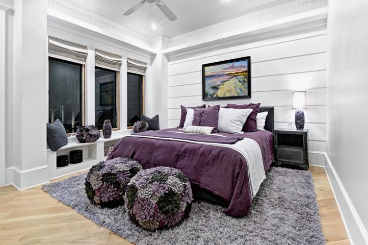 Фиолетовая спальня - Дизайн спальни 2019