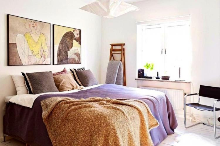 Скандинавский стиль - Дизайн спальни 2019