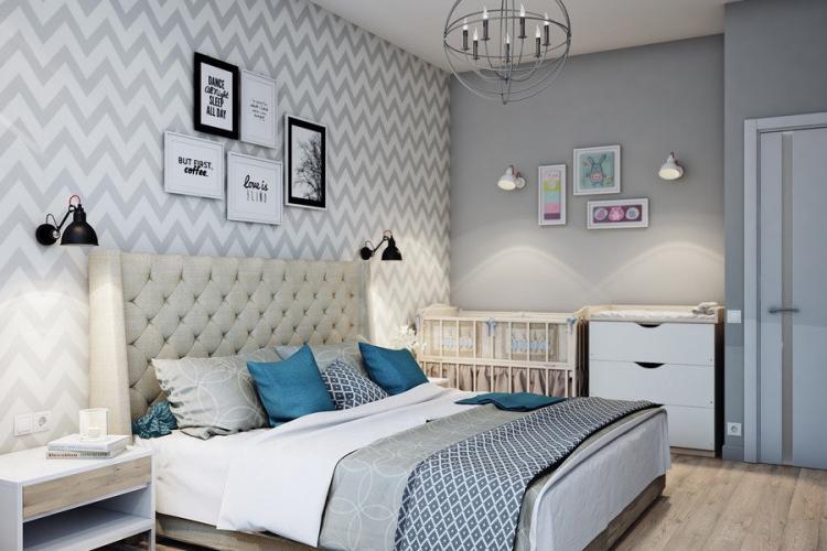 Отделка стен - Дизайн спальни 2019