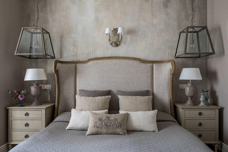 Спальня 9 кв.м. в классическом стиле - Дизайн интерьера