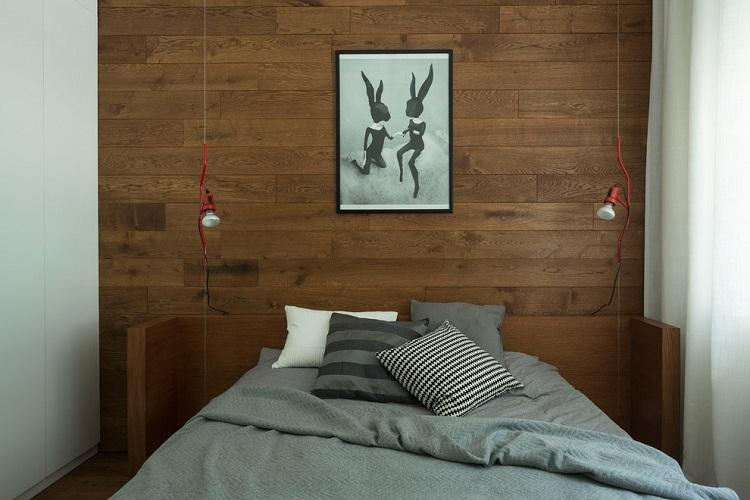 Спальня 9 кв.м. в современном стиле - Дизайн интерьера