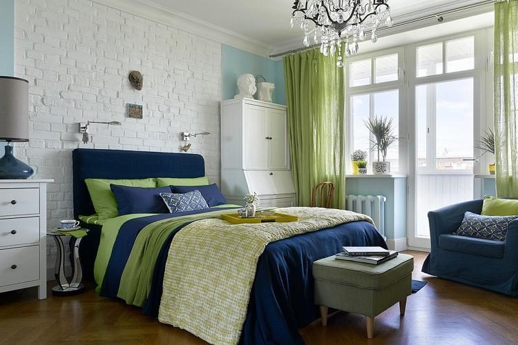 Спальня 9 кв.м. в стиле фьюжн - Дизайн интерьера
