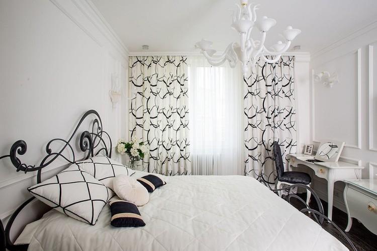 Белая спальня 9 кв.м. - Дизайн интерьера