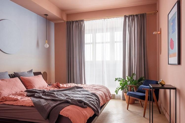 Розовая спальня 9 кв.м. - Дизайн интерьера
