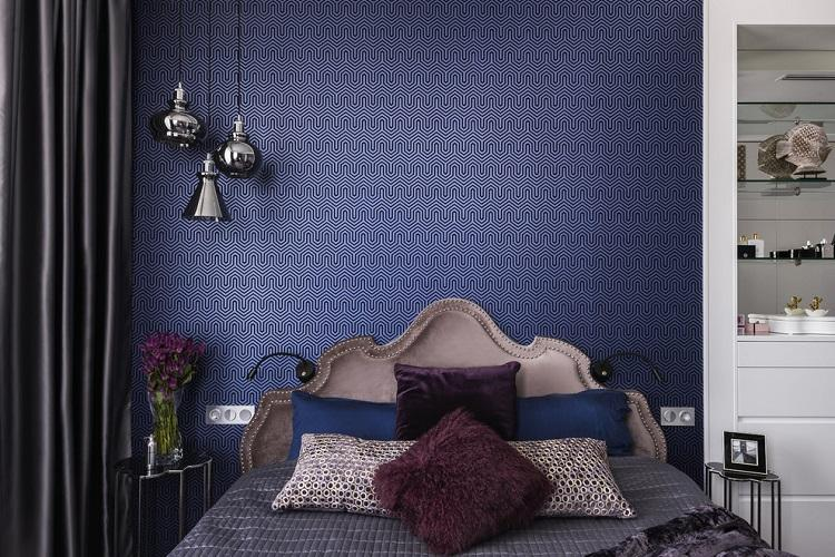 Отделка стен - Дизайн спальни 9 кв.м.