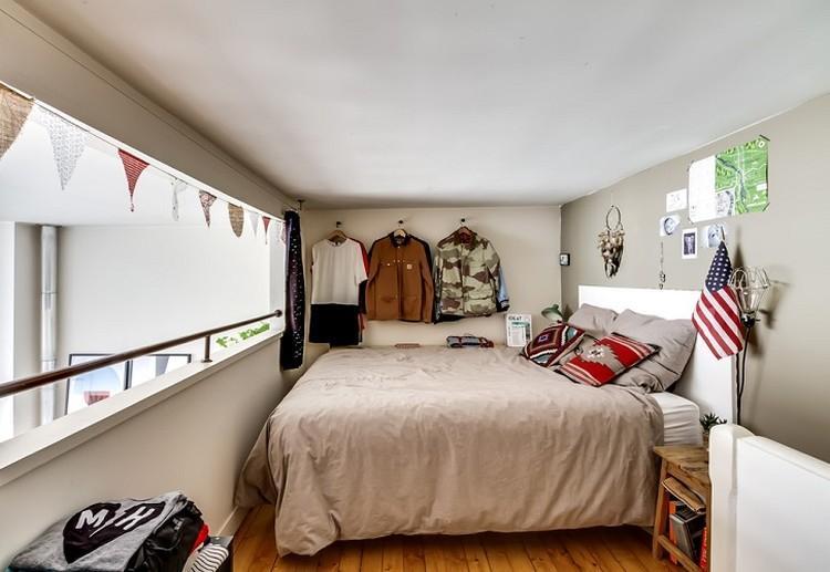 Отделка потолка - Дизайн спальни 9 кв.м.