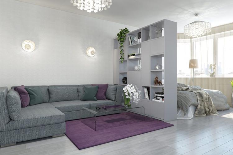 Спальня-гостиная в современном стиле - Дизайн интерьера