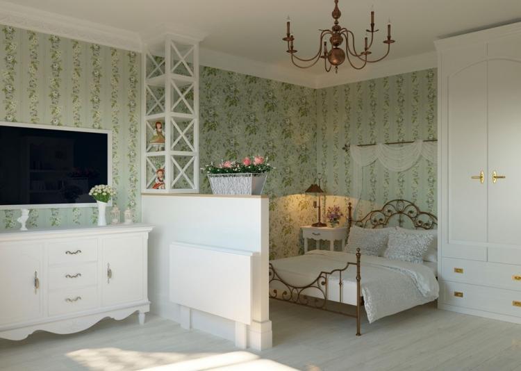 Спальня-гостиная в стиле прованс - Дизайн интерьера