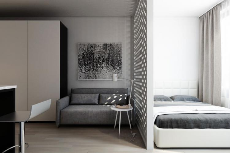 Перегородки - Способы зонирования спальни-гостиной