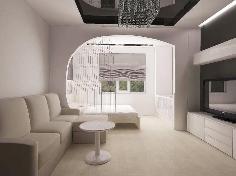 Арки - Способы зонирования спальни-гостиной
