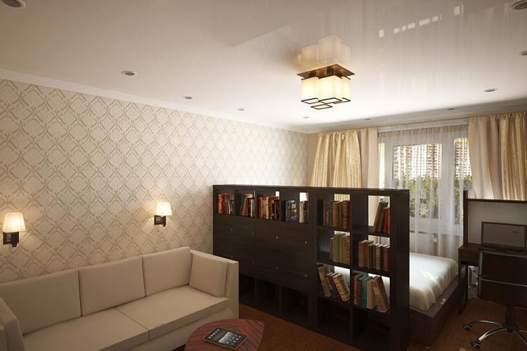 Мебель - Способы зонирования спальни-гостиной