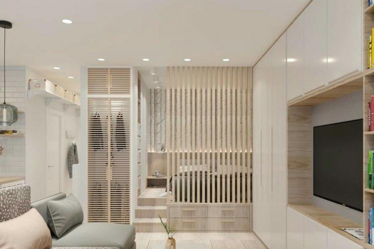 Освещение и подсветка - Дизайн гостиной, совмещенной со спальней