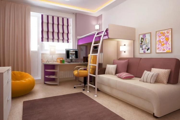 Мебель - Дизайн гостиной, совмещенной со спальней