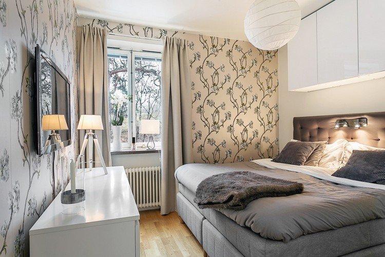 Отделка стен - Дизайн спальни в хрущевке