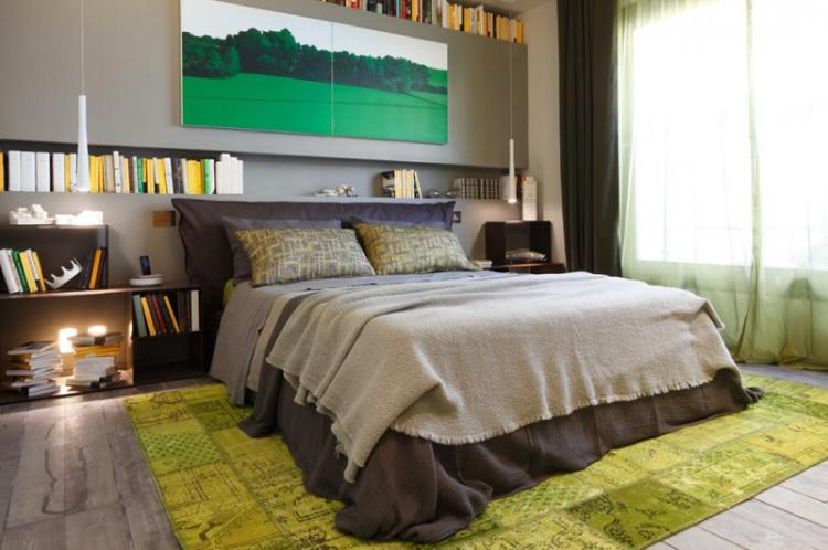 Отделка пола - Дизайн спальни в хрущевке