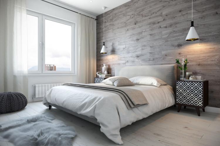Коричневая спальня в хрущевке - Дизайн интерьера
