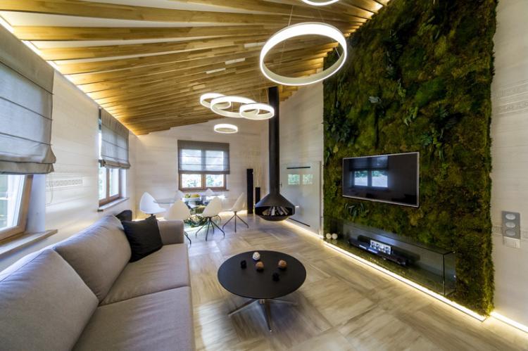 Фитостена - Дизайн стены с телевизором