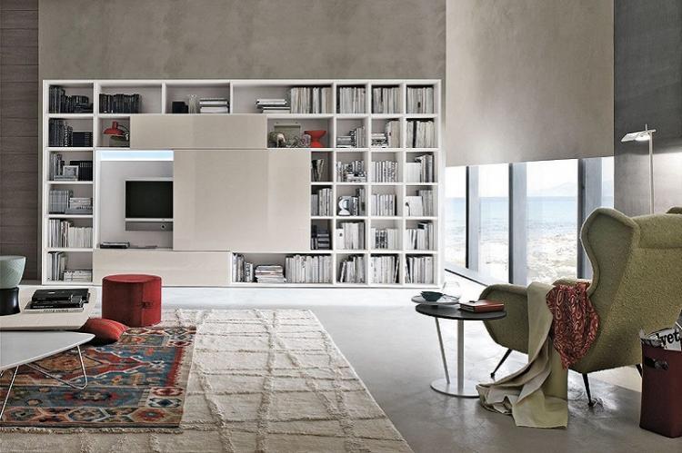 Встроенная мебель - Дизайн стены с телевизором