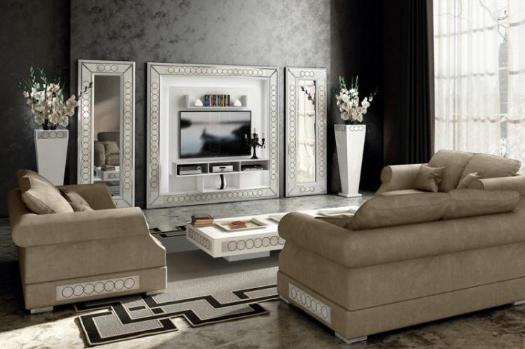 Багетная рамка - Дизайн стены с телевизором