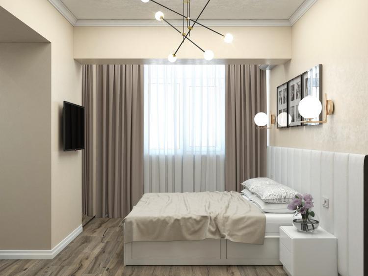 Дизайн трехкомнатной квартиры 90 кв.м.