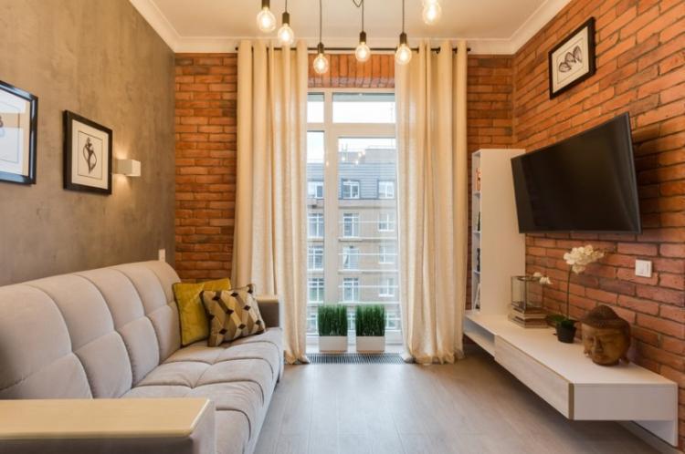 Освещение и подсветка - Дизайн узкой гостиной