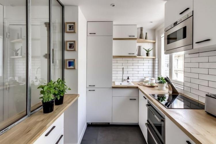 Дизайн узкой кухни: 65 красивых идей (фото)