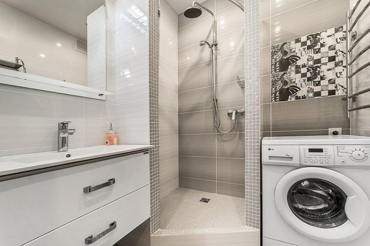Перепланировка и увеличение площади - Дизайн ванной комнаты 2 кв.м.