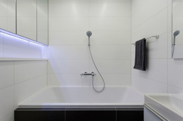 Ванная комната 2 кв.м. в стиле минимализм - Дизайн интерьера