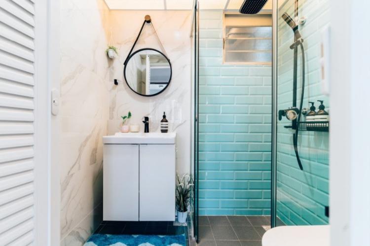 Ванная комната 2 кв.м. в скандинавском стиле - Дизайн интерьера