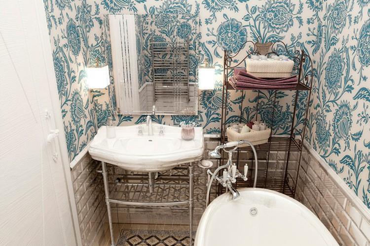 Ванная комната 2 кв.м. в стиле прованс - Дизайн интерьера