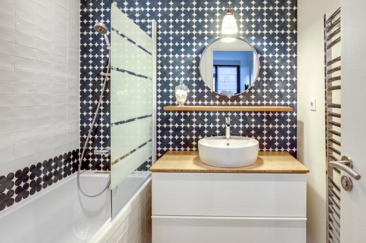 Отделка стен - Дизайн ванной комнаты 2 кв.м.