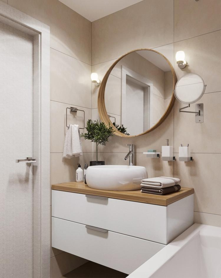 Ванная комната 2 кв.м. - дизайн интерьера фото