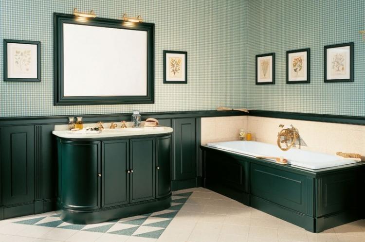 Зеленая ванная комната - Дизайн интерьера 2019
