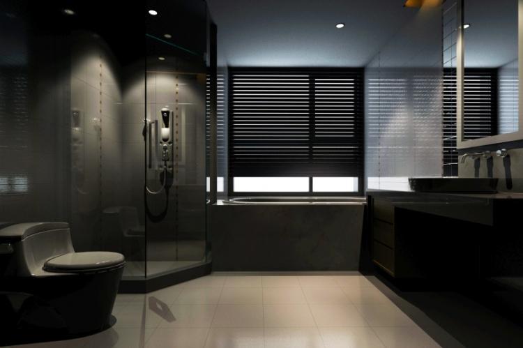 Черная ванная комната - Дизайн интерьера 2019