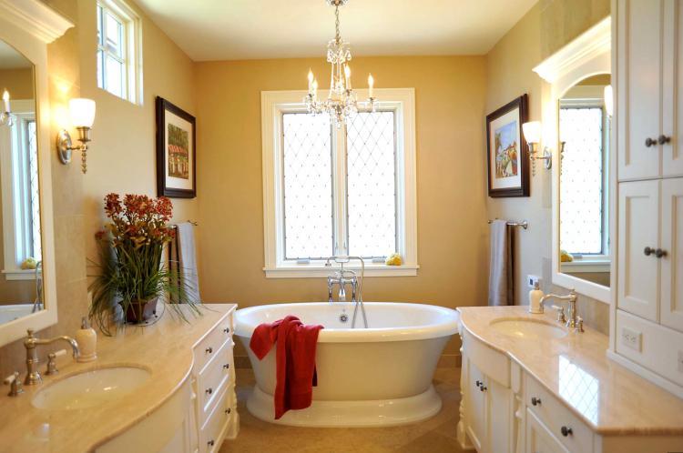Желтая ванная комната - Дизайн интерьера 2019