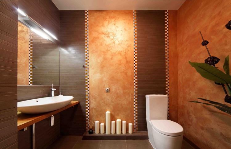 Терракотовая ванная комната - Дизайн интерьера 2019