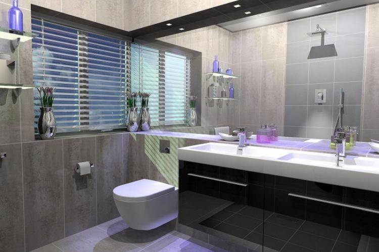 Ванная комната в стиле контемпорари - Дизайн интерьера 2019