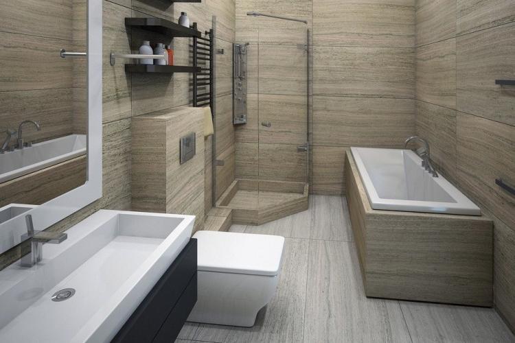 Ванная комната в стиле хай-тек - Дизайн интерьера 2019