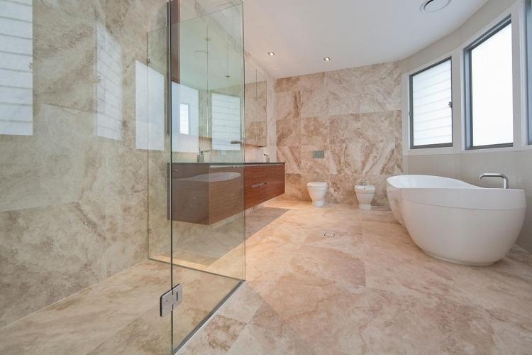 Отделка пола - Дизайн ванной комнаты 2019