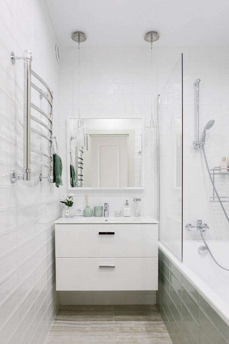 Минималистичный стиль интерьера - Дизайн ванной комнаты 3 кв.м.